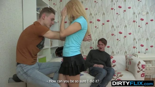 Тренер связал парня и начал жестко натягивать его худую возлюбленную на бритый хрен #4